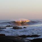 Jose Ignacio, offshore, at sunset