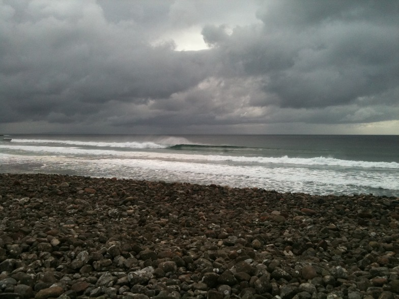 Rackwick surf break