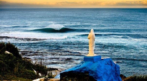 Lebu surf break