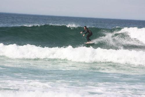 Xavi Serra a Caión, Playa de Caion