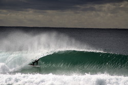Jake Sylvester at local break Bar Reef, Bar Beach photo