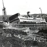 The wreck of MV Malabar, 2 April 1931.