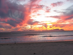 sunset, Strand (Pipe) photo