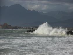 splash, Gordons Bay Harbour photo