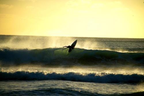 Winter Sunset, Back Beach
