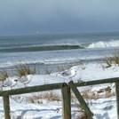 REAL winter surf - New Brighton, July 25,  2011 Water 5degrees C, Air temp -3 but PUMPING!!, New Brighton Beach