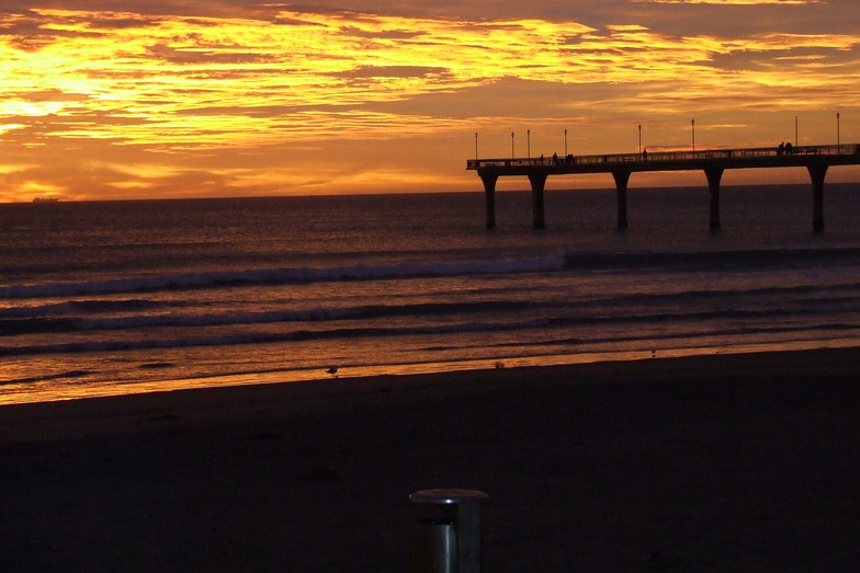 First signs of the new southeast swell at dawn ....., New Brighton Beach