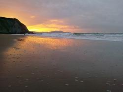 sunset, Playa de Arrietara photo