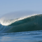 pipeline breaking to barrel, Banzai Pipeline and Backdoor