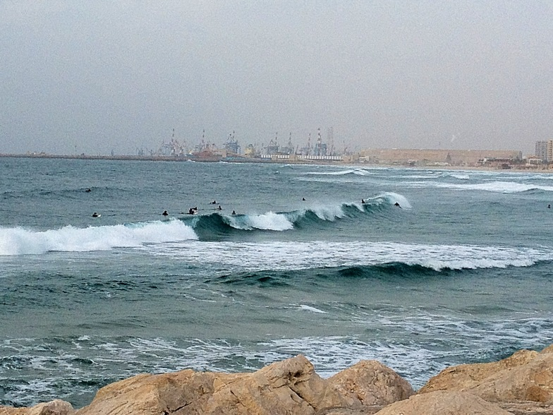 Ashdod surfing at Hakshtot (the Marina), Hakshtot (Ashdod)