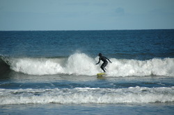 Enjoying the surf at Yellowcraig, Yellowcraig Beach photo