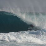 MATT TYNAN TUCKS INTO A MONSTER, Aganoa Beach