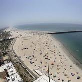 Aerial view of Praia da Barra and Costa Nova