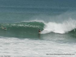 Surfing Popoyo, Nicaragua photo