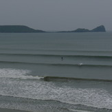 Clean swell at Rhossili