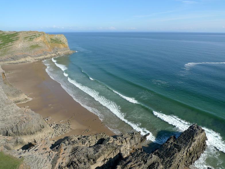 Mewslade Bay surf break