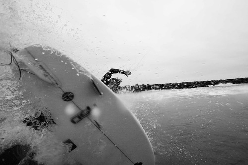 OB Jetty - Chris Racan Off the lip, Ocean Beach Jetty