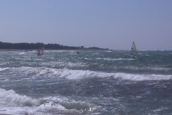 Windsurfers with 25 knots, Ristna Hiiumaa Island photo
