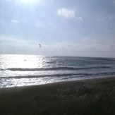 Kitesurfer at 9 p.m. in july 2012, Ristna Hiiumaa Island