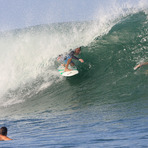 Solid August swell, Puerto Sandino
