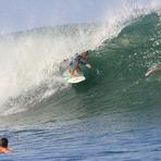 Solid August swell, Puerto Sandino