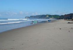 Canoa low tide photo