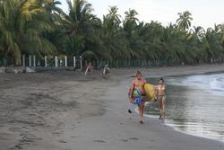 Early morning walk in paradise., La Saladita photo