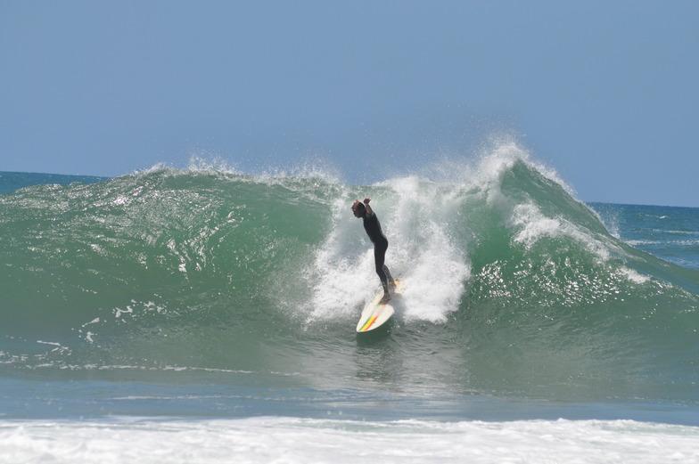 Mark Bedser surfing Gonubie Point, The Point (Gonubie Bay)