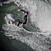 Riding the high wave, Huntington Beach