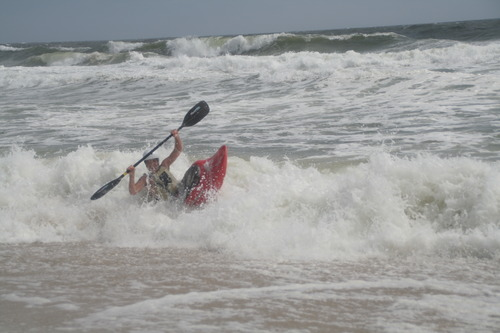 Riding a Wave from Tropical Storm Leslie, Jones Beach State Park