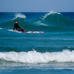 Surf-rescue en Sabón, Playa de Sabon