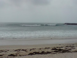 good surf near the breakwall, Blacksmiths Beach photo