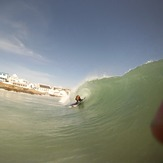 Bodyboarding little bay