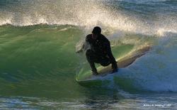 Longboarder at Taft, Taft (Siltetz River) photo