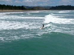 Small summer swell, Tolaga Bay photo