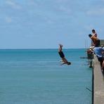 Wharf fun, Tolaga Bay