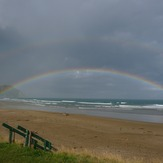 Rainbow after shower, Makorori Centre