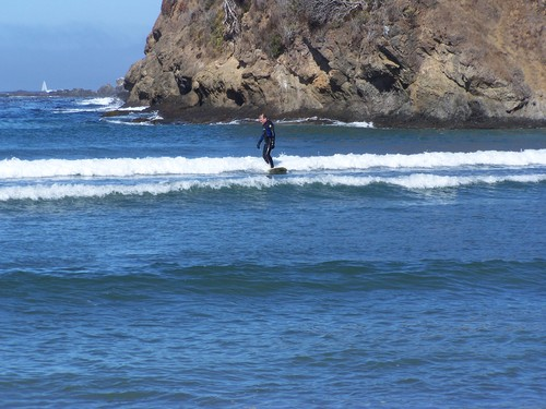 September swell @ Caspar, Caspar Creek