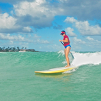 SUP'in at Castles, Castles Beach