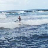 Surfin Grandma Edy at 1st Bay, Pohoiki
