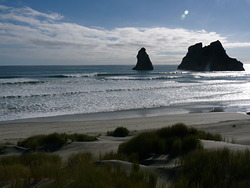 Spring Tide Wharariki, Wharariki Beach photo