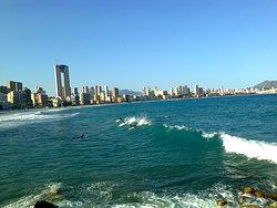Surf en playa Poniente  photo