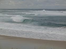 Breezy barrel, Nobbys Reef photo