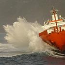 CP Valour stranded on Praia do Norte, Faial - Praia do Norte