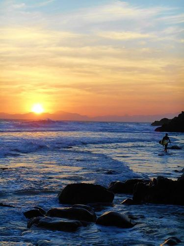 sunset over koelbay, Koeel Bay