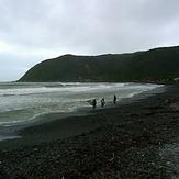 Surfers at Hongoeka Bay, The Pa