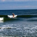 Amanda Rose cruising on glassy lefts., North Myrtle/27th Avenue South