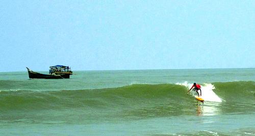 Surfing Cox's Bazar