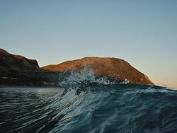 Headland from sea, Makorori North photo
