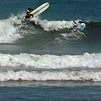 Warming Up for World Longboard Championship 2013, Punta Huanchaco